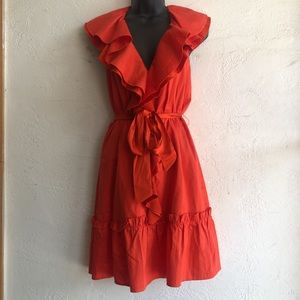 Bebe blood orange halter dress